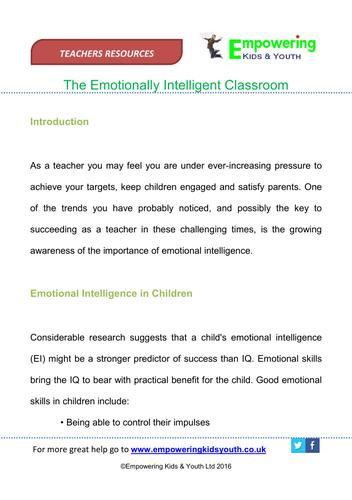 Emotionally Intelligent Classroom