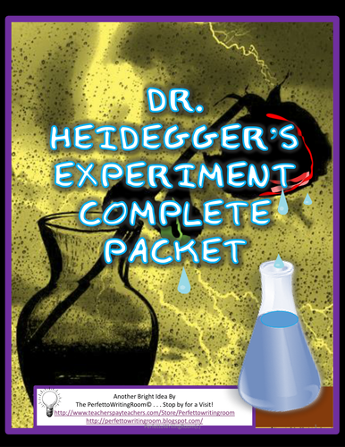 Dr. Heidegger's Experiment, Complete Story, Activity, Quiz, and Key Packet  GR. 8, 9, 10,11