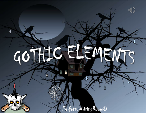 GOTHIC Literature PDF: Introduction, Elements and Motifs with QUIZ, Grades 8-9-10-11