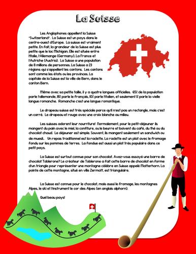 Francophone Culture Reading - Switzerland