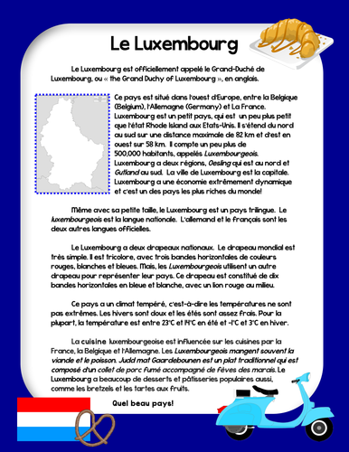 Francophone Cultural Reading - Luxembourg