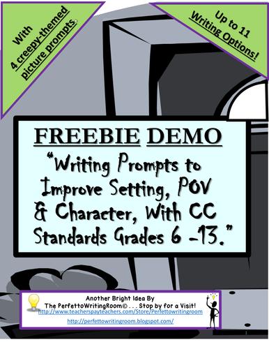 FREE Creepy Themed Creative Writing Prompt Demo - Grades 6-12