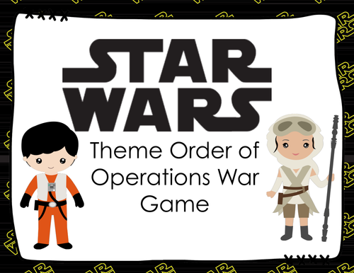 STAR WARS Theme Order of Operations War Game