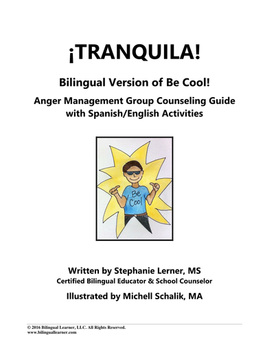 Tranquila: Anger Management Group Counseling Guide with English/Spanish Activities