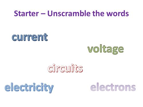 Circuits & current - NEW KS3