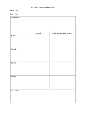 a structured essay plan by andyowen teaching resources tes