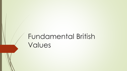 Fundamental British Values Introduction