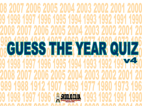 Guess the Year Quiz