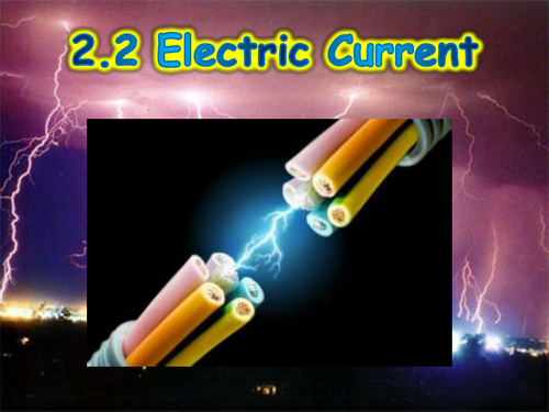 Physics 2.2 Electric Current, Voltage, Resistance Guided Notes and PowerPoint