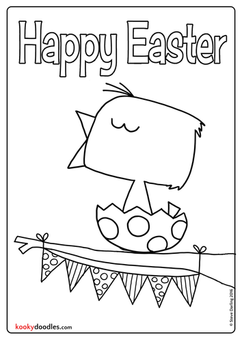 Easter Chick Colouring Sheet