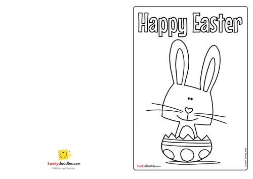 Make an Easter Bunny Card