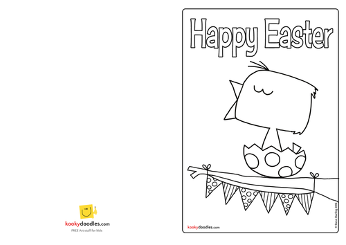 Make an Easter Chick Card