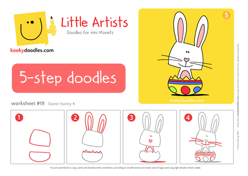 How to Draw an Easter Bunny Worksheet