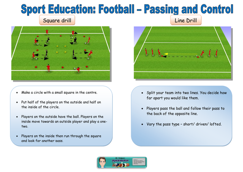 Football task cards with differentiated learning challenges