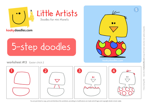 How to Draw an Easter Chick Worksheet