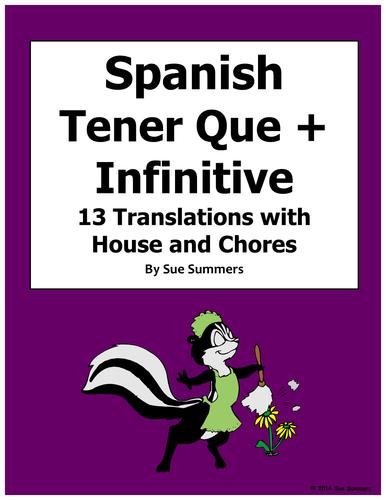 Spanish Present Progressive 10 Sentences Worksheet By