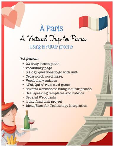 Paris - French Culture using a Virtual Field Trip