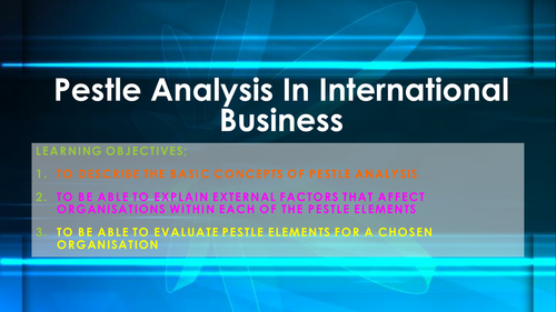 PESTLE Analysis in International Business