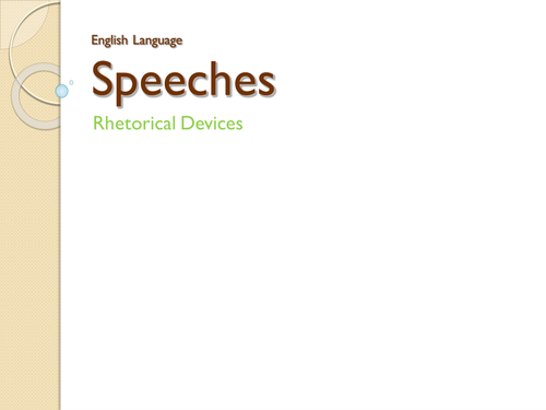 Political Speeches - English Language