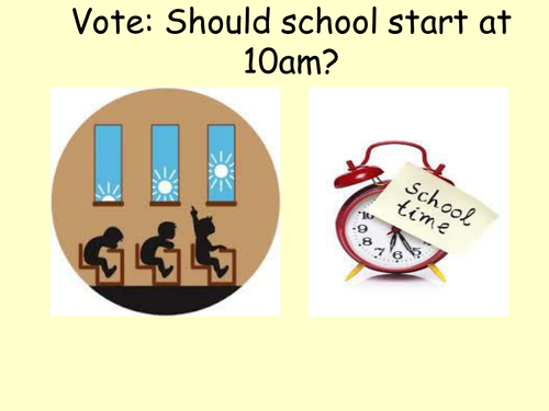 Assembly: Should the school day start at 10am?