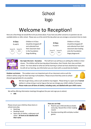 Parent Letters Reception Eyfs By Elmo001 Teaching