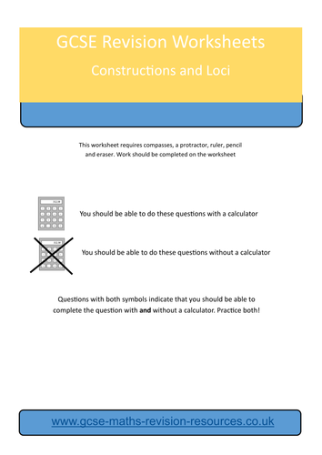 Constructions and Loci Revision Worksheet