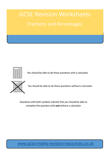 fractions and percentages revision worksheet by mathsteacher101 teaching resources tes. Black Bedroom Furniture Sets. Home Design Ideas