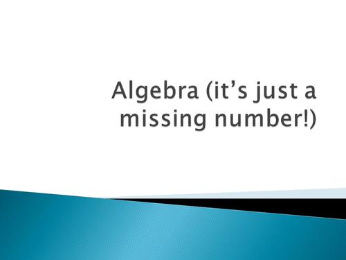 Simple introduction to algebra KS2