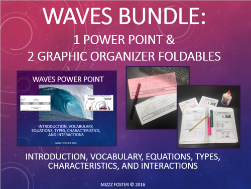 Waves Bundle 1 Power Point 2 Graphic Organizers for Interactive – Wave Interactions Worksheet