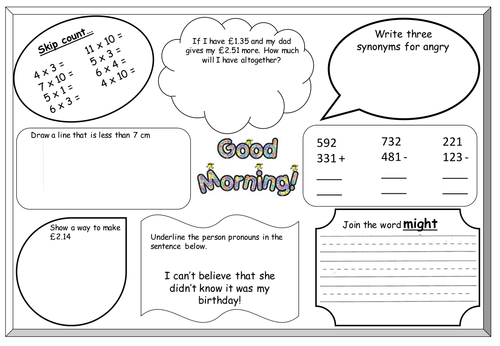 Counting and recording, PP and Worksheets by KWorth