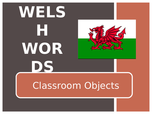 Welsh Classroom Items