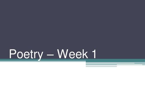 Year 5 - Two week Poetry Unit