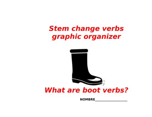 Stem change verbs spanish