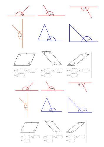 angles worksheet pdf year 6