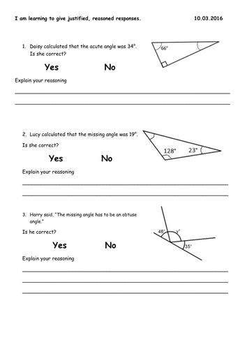 angle word problems ks2