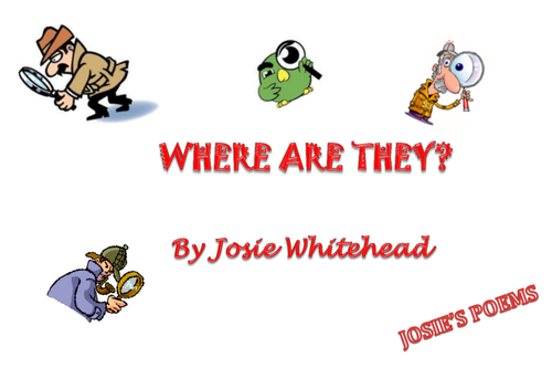 EASTER POEM:  KS1 AND KS2 - WHERE ARE THEY?  By Josie Whitehead