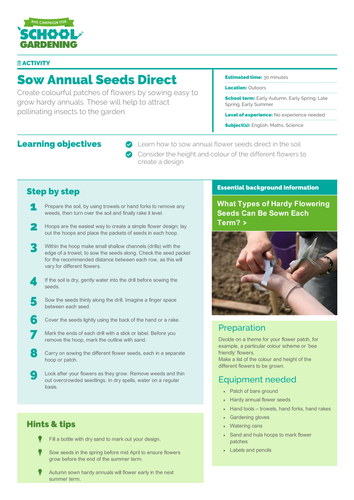 Sow Annual Seeds Direct