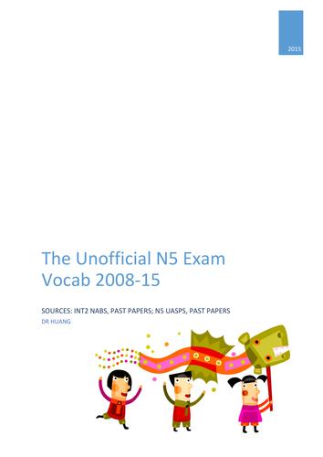 National 5 Exam Vocabulary_Family and Friends