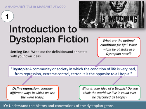 KS4/5 Introduction to Dystopia