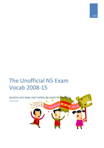 National 5 Exam Vocab_Lifestyle