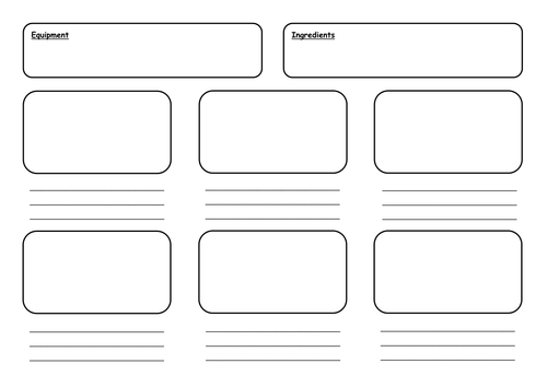 Instructional Writing Storyboard Template by Asharys