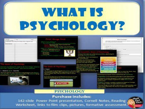 What is Psychology? Power Point Lecture and  Reading Guide