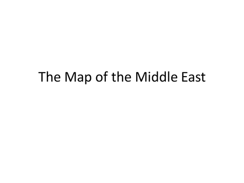 Arabic - Map of the Gulf Lesson activity