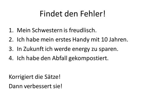 Developing speaking in German: Shrink me, grow me!