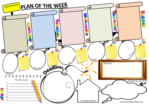 Weekly Planner for Teachers - 5 Minutes