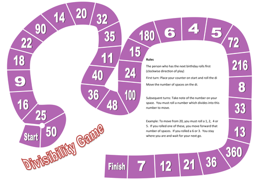 Game: Divisibility Rules, Dividing, Factors,