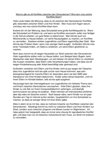 Essay german language my family