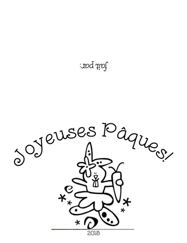 Pâques/Easter Cards French