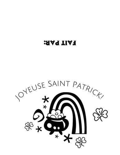 St. Patrick Day Cards/Joyeuse St. Patrick