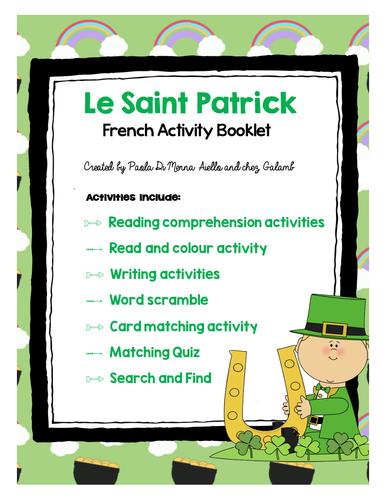 La Saint-Patrick French Booklet (French/FSL)